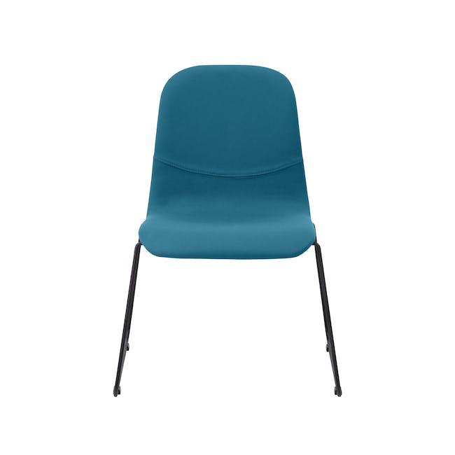 Ava Dining Chair - Matt Black, Emerald - 5