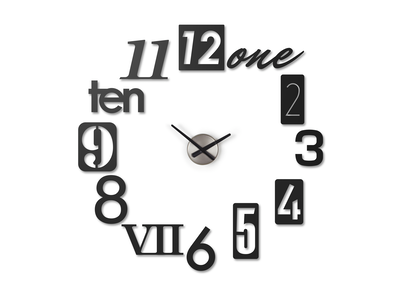 Numbra Wall Clock - Black - Image 1