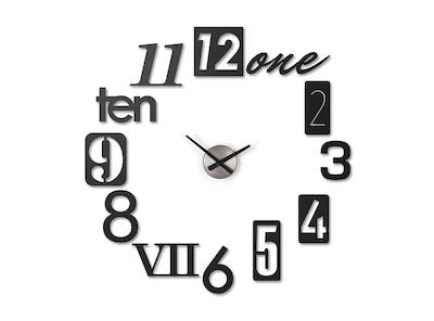 Numbra Wall Clock - Black