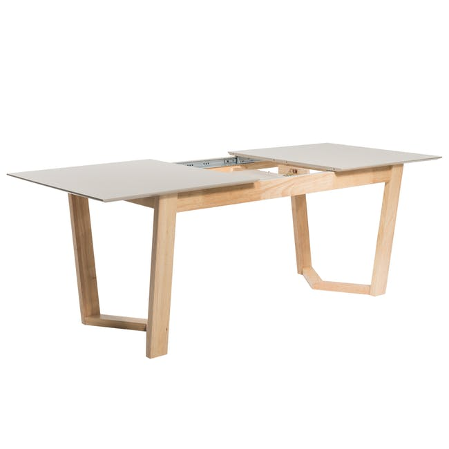 Meera Extendable Dining Table 1.6m - Natural, Taupe Grey - 4
