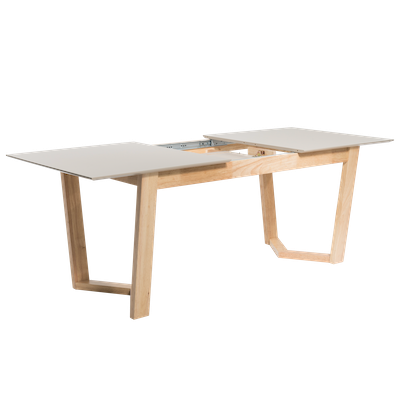 (As-is) Meera Extendable Dining Table 1.6m - Natural, Taupe Grey -2 - Image 2