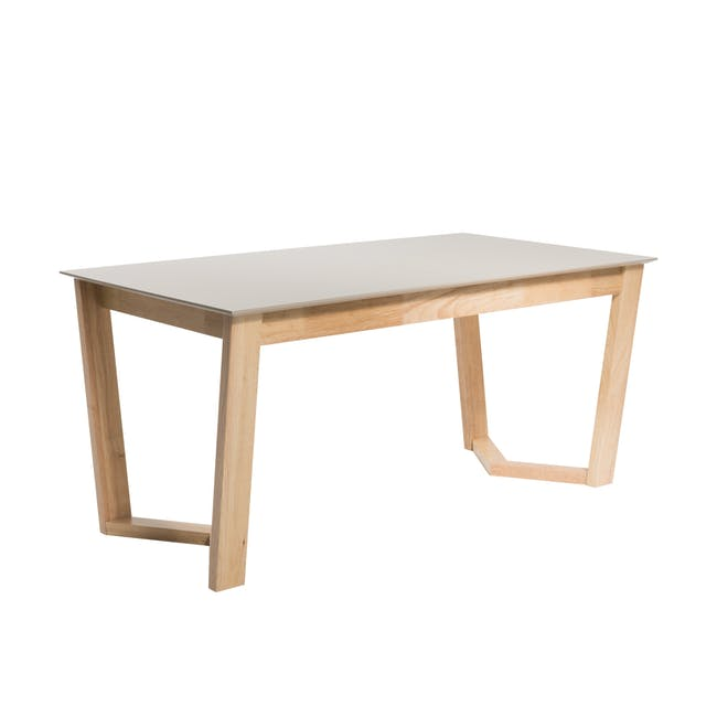 Meera Extendable Dining Table 1.6m - Natural, Taupe Grey - 3