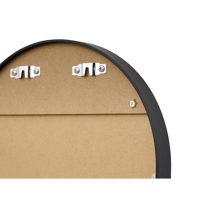 Arvi Oval Half-Length Mirror 30 x 90 cm - Black - 5