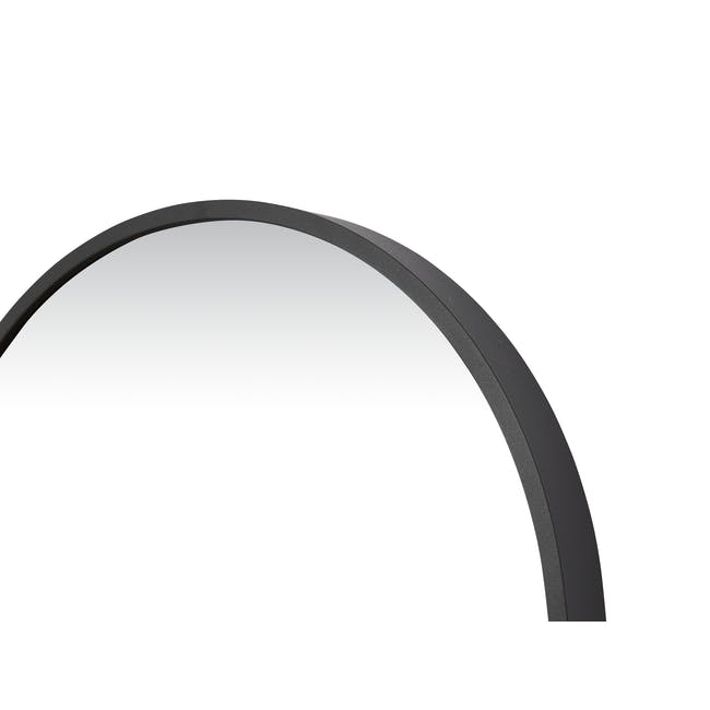 Arvi Oval Half-Length Mirror 30 x 90 cm - Black - 4