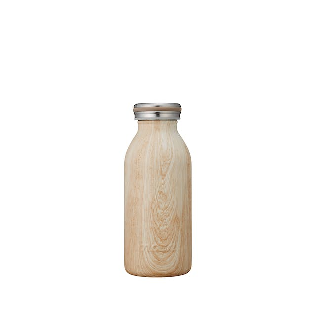 MOSH! Double-walled Stainless Steel Bottle 350ml - Brown Woody - 0