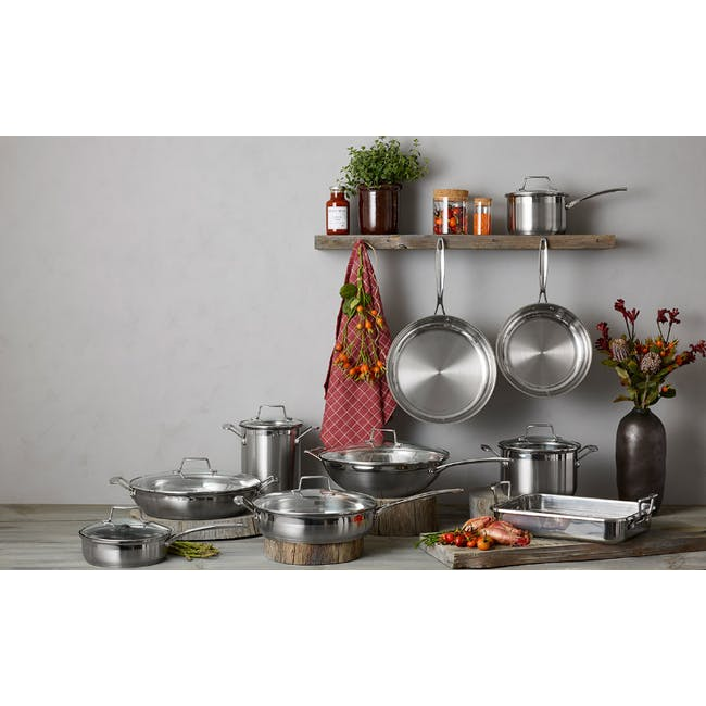 SCANPAN Impact Stainless Steel Fry Pan (4 Sizes) - 2