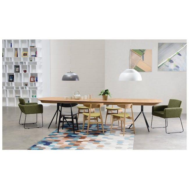 Delma Dining Armchair - Matt Black, Russet - 4