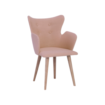 Kaia Dining Arm Chair - Tangerine, Oak - Image 2