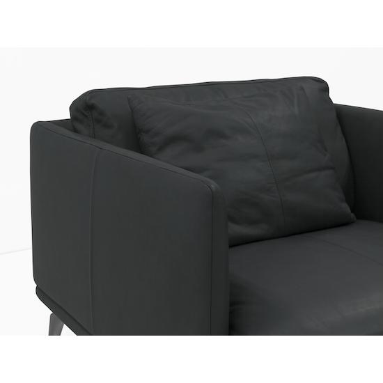 Como 1 5 Seater Sofa Slate Premium Cowhide Down Feathers