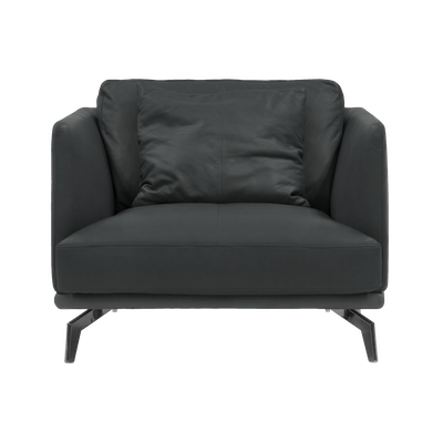 Como 1.5 Seater Sofa - Slate (Premium Cowhide), Down Feathers - Image 1