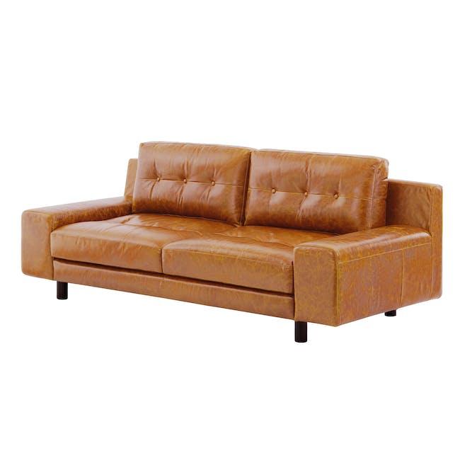 Wyatt 3 Seater Sofa - Butterscotch (Premium Waxed Leather) - 2