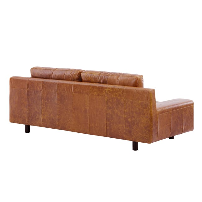 Wyatt 3 Seater Sofa - Butterscotch (Premium Waxed Leather) - 4