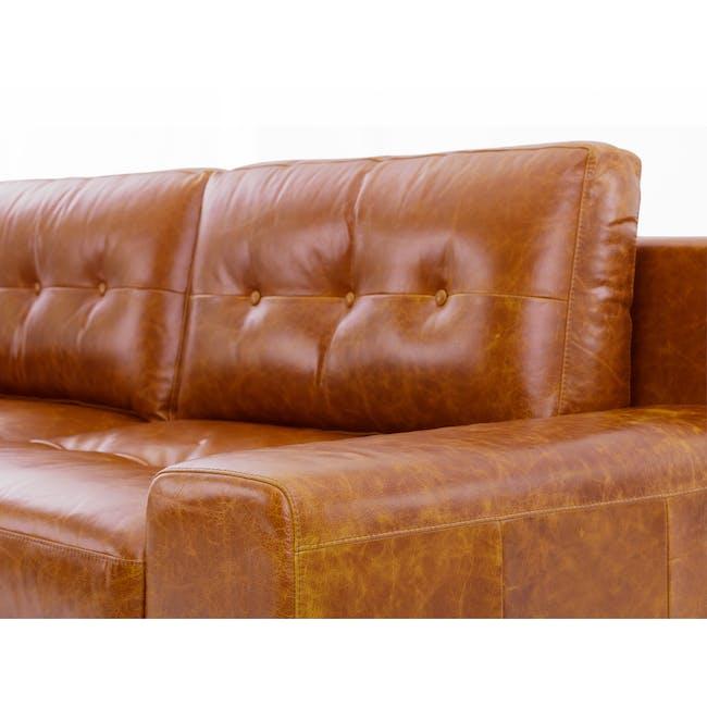 Wyatt 3 Seater Sofa - Butterscotch (Premium Waxed Leather) - 5