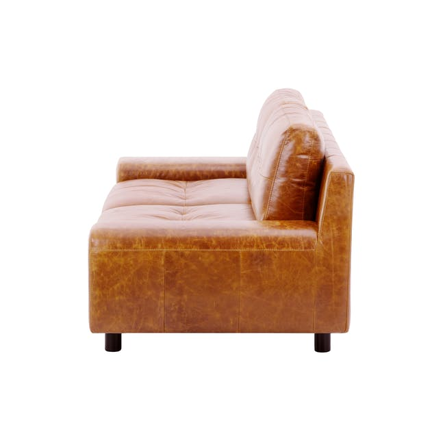 Wyatt 3 Seater Sofa - Butterscotch (Premium Waxed Leather) - 3
