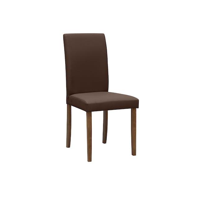 Dahlia Dining Chair - Cocoa, Mocha (Faux Leather) - 0