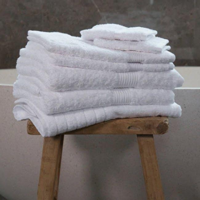 Canningvale Egyptian Royale 7pc Towel Set - Carrara White - 1