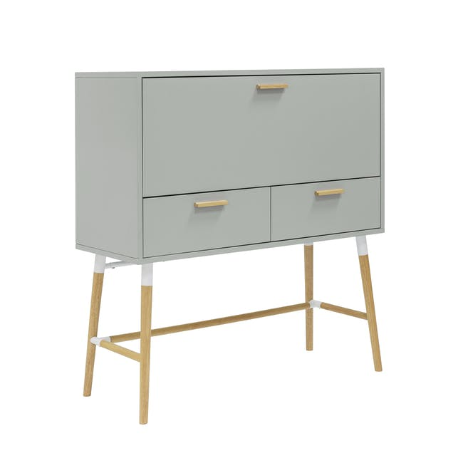 Arod Study Table - White Grey - 3