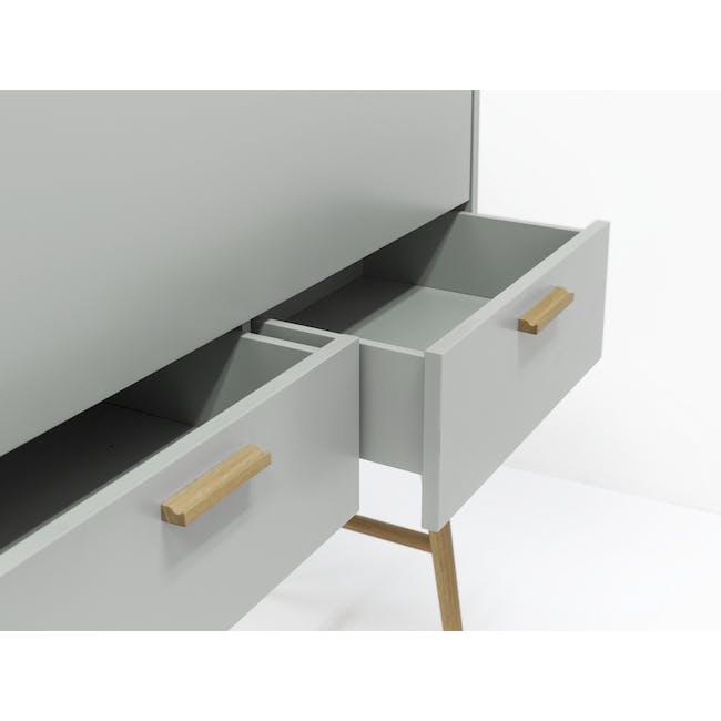 Arod Study Table - White Grey - 8