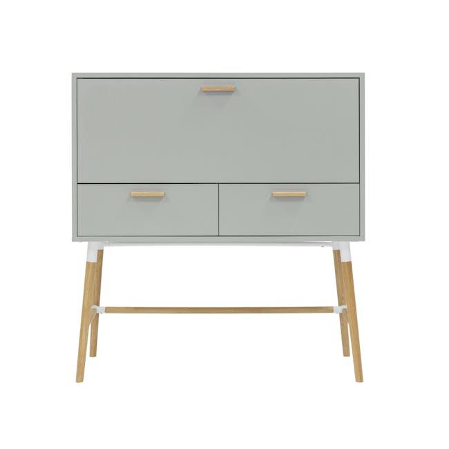 Arod Study Table - White Grey - 4