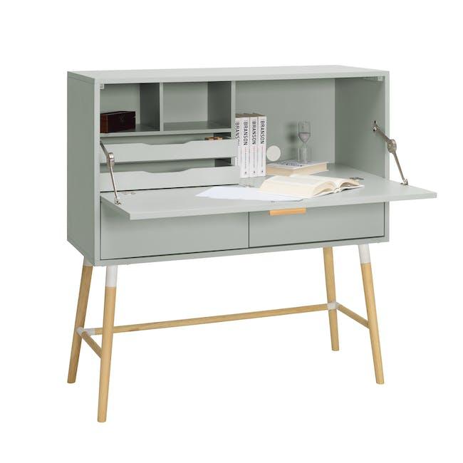 Arod Study Table - White Grey - 2