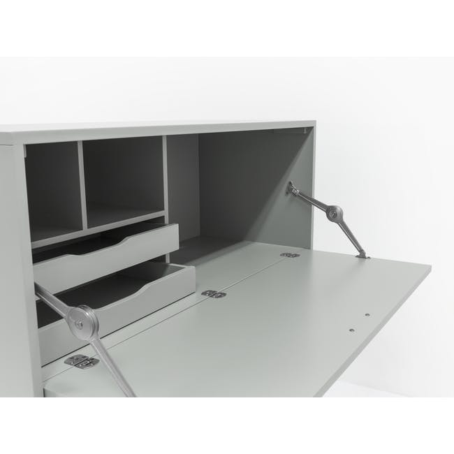 Arod Study Table - White Grey - 6