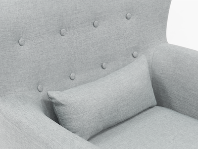 (As-is) Sofia Armchair - Silver -2 - Image 2