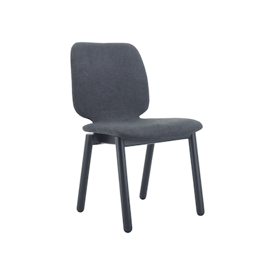 Missie Dining Chair - Black, Dark Grey