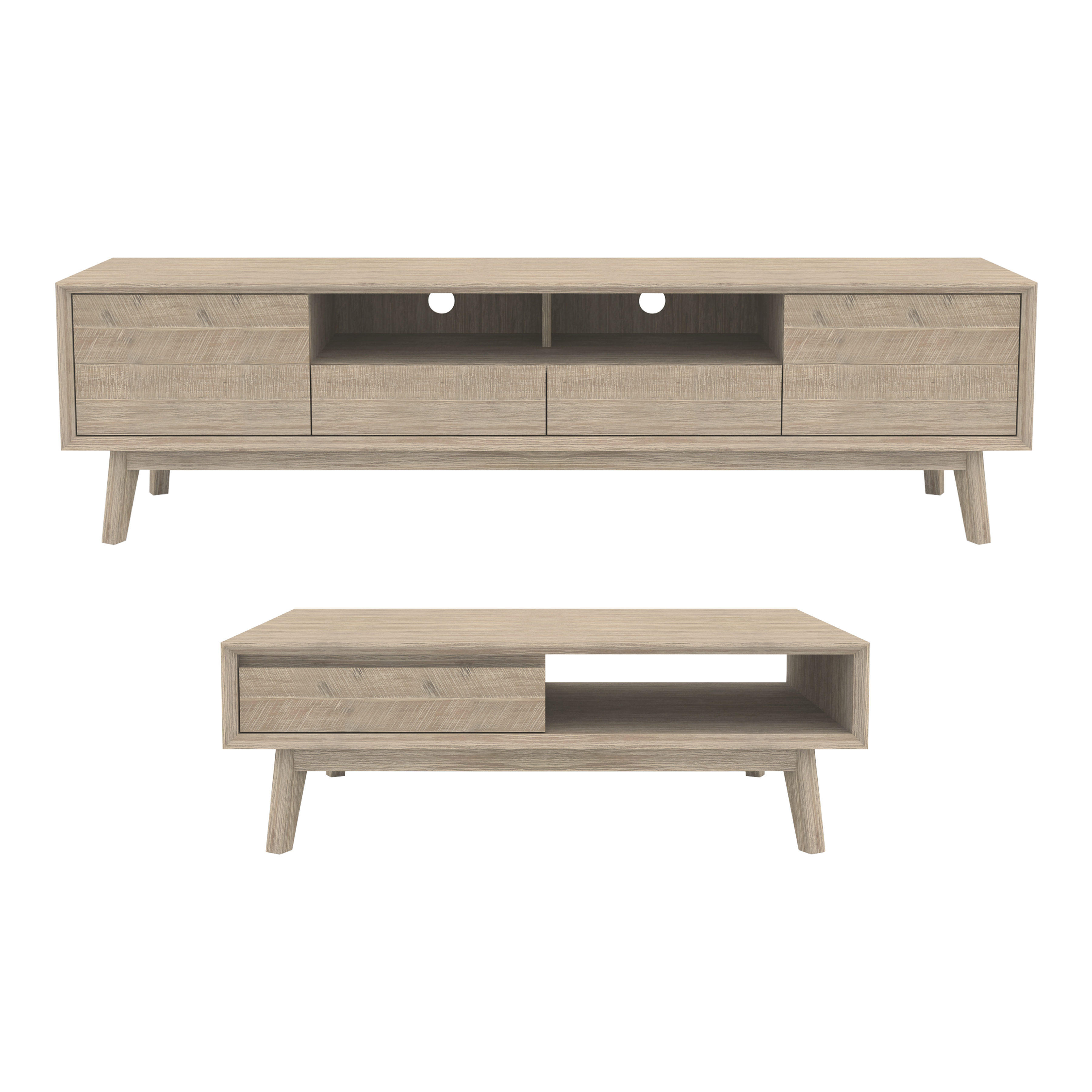 Leland TV Console 2m With Leland Coffee Table