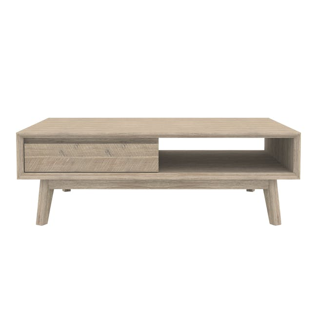 Leland TV Console 2m with Leland Twin Drawer Coffee Table - 2