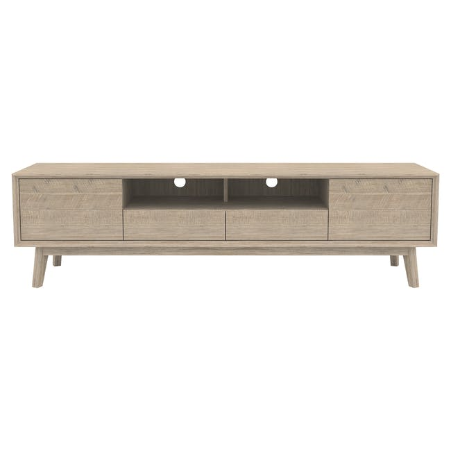 Leland TV Console 2m with Leland Twin Drawer Coffee Table - 1