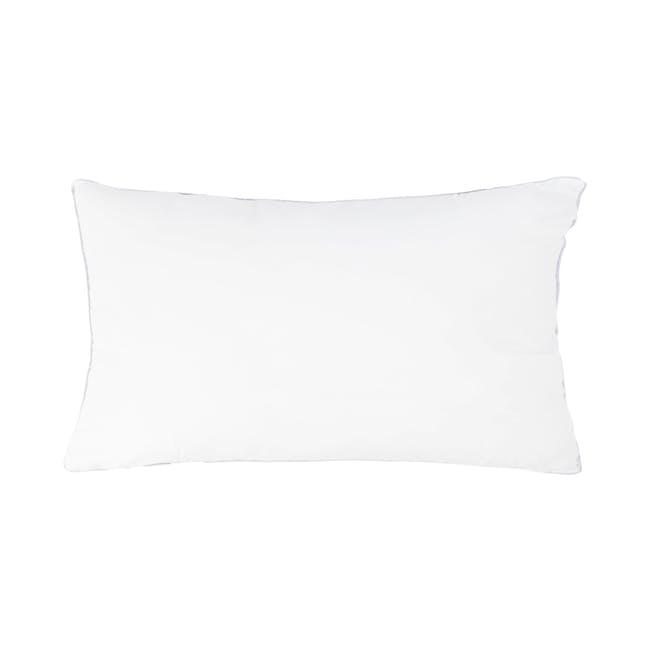 Alyssa Velvet Lumbar Cushion - Burgundy - 2