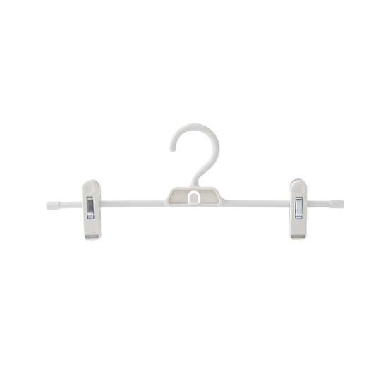 HipVan Bundles - Jacob Hangers with Clips (Set of 5) - White