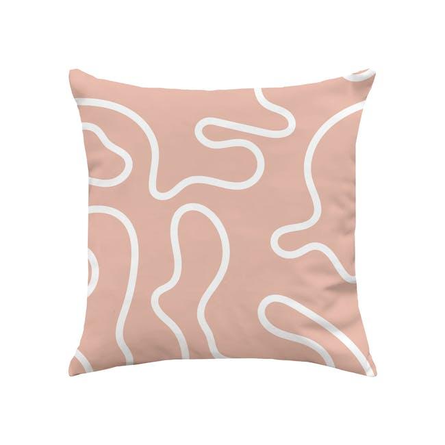 Hey Plush Cushion Cover - Blush - 0