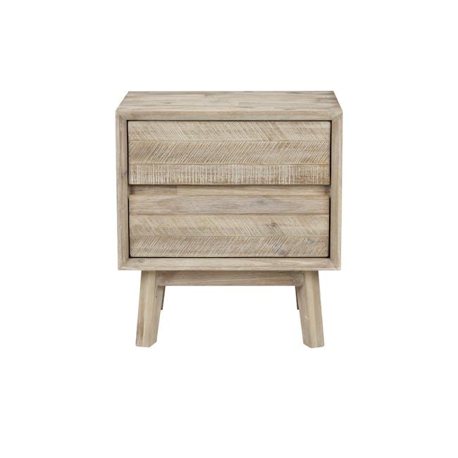 Leland Twin Drawer Bedside Table - 0