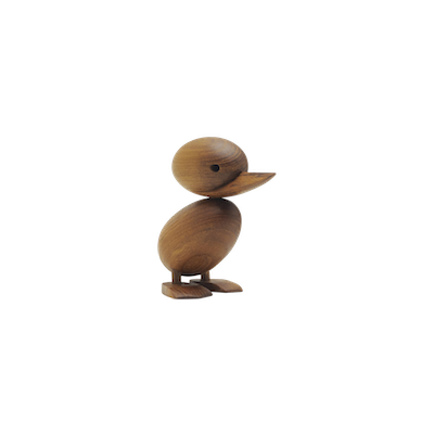 Clarise the Duckling - Teak Wood Sculpture (Small) - Image 2