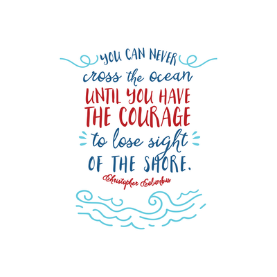 You Can Never Cross The Ocean Canvas Art Print