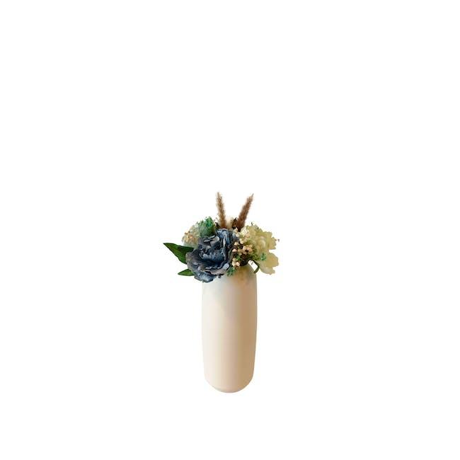 Large Cylinder Floral Clay Vase - Design 5 - 0