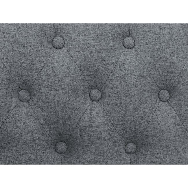 Cadencia 2 Seater Sofa - Charcoal Grey (Fabric) - 6