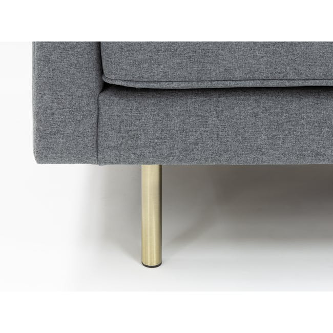 Cadencia 2 Seater Sofa - Charcoal Grey (Fabric) - 5