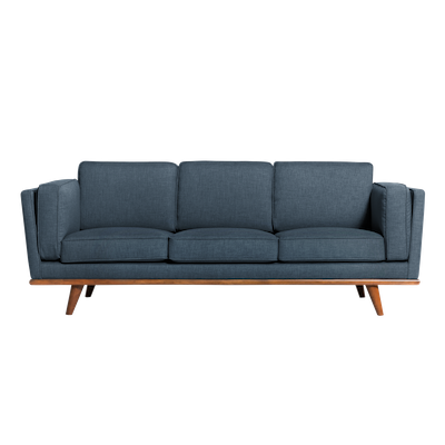 (As-is) Carter 3 Seater Sofa - Space Blue -2 - Image 1