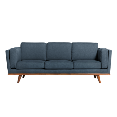 (As-is) Carter 3 Seater Sofa - Space Blue - 4 - Image 1