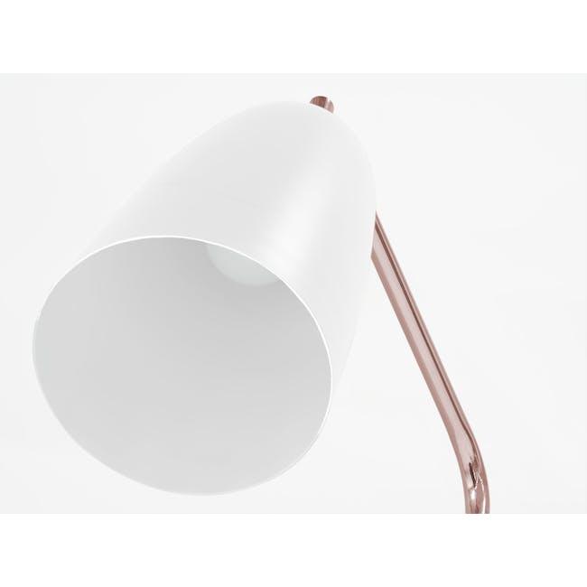 Grasshoppa Floor Lamp - White, Copper - 3