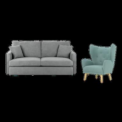 Ashley 3 Seater Sofa and Kiwami Lounge Chair - Image 1