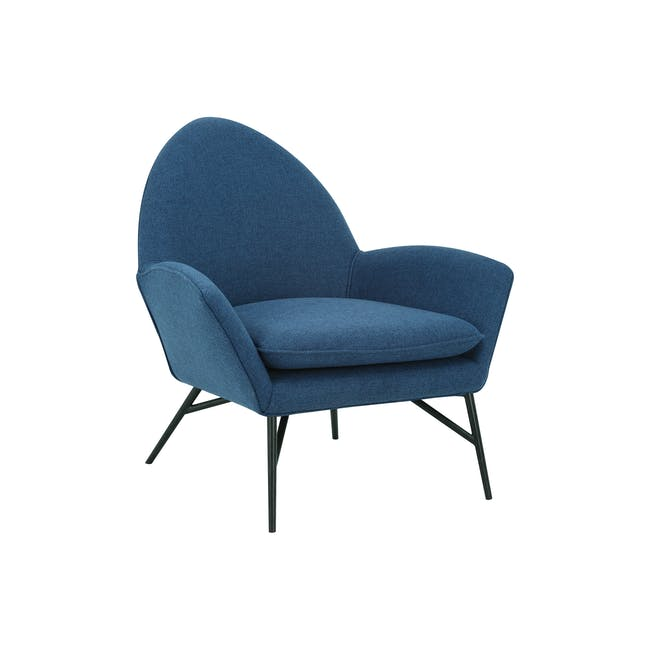 Esther Lounge Chair - Midnight Blue - 1