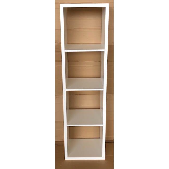 (As-is) Taina 4 Shelving Unit (Column) - White - 5 - 1
