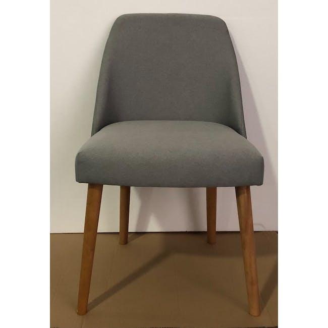 (As-is) Miranda Chair - Natural, Sea Green - 1 - 2