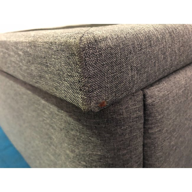 (As-is) ESSENTIALS Single Headboard Storage Bed - Grey (Fabric) - 1 - 4