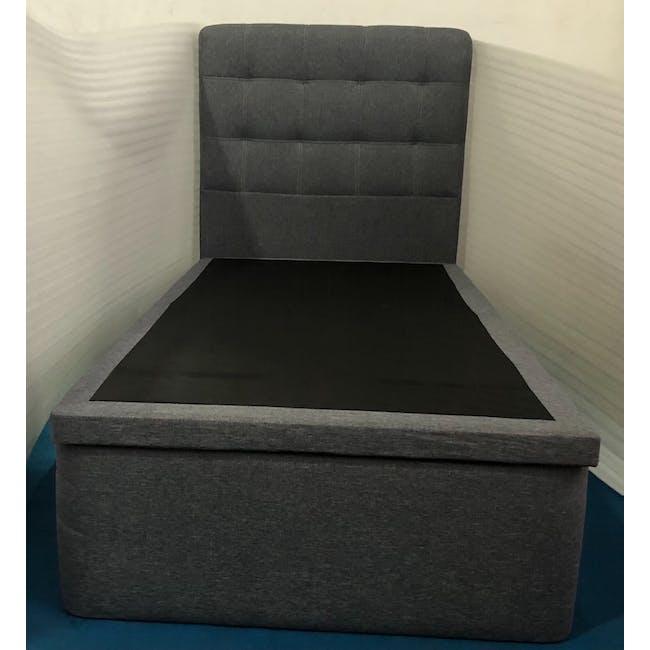 (As-is) ESSENTIALS Single Headboard Storage Bed - Grey (Fabric) - 1 - 1
