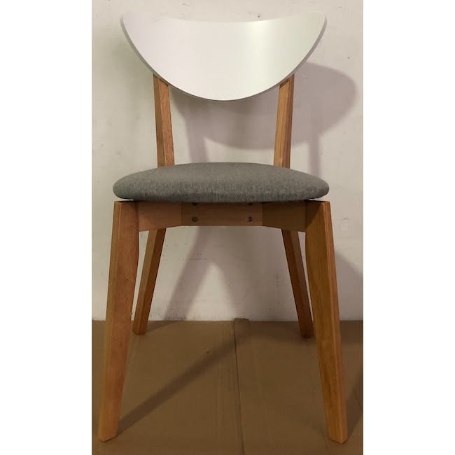 (As-is) Harold Dining Chair - Natural, Dolphin Grey - 1 - 1