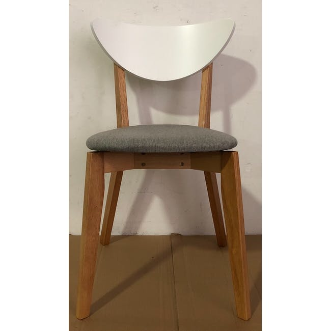 (As-is) Harold Dining Chair - Natural, Dolphin Grey - 1 - 2